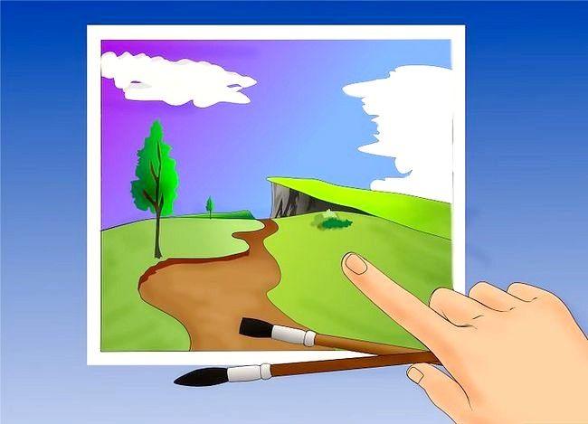 Hoe om `n olie landskap te verf