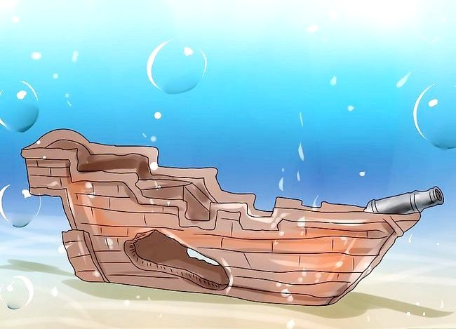 Prent getiteld Beplan `n akwarium Stap 7