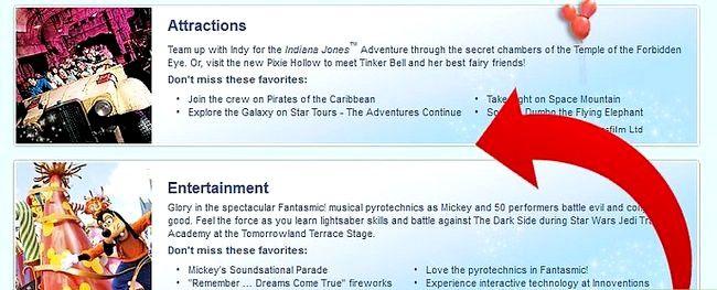 Prent getiteld Beplan `n Disney Vacation Stap 3