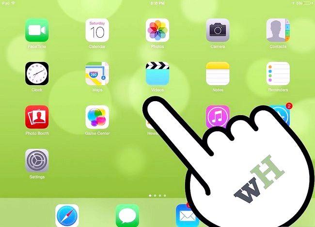 Prent getiteld Plaas `n e-boek op `n iPad Stap 1