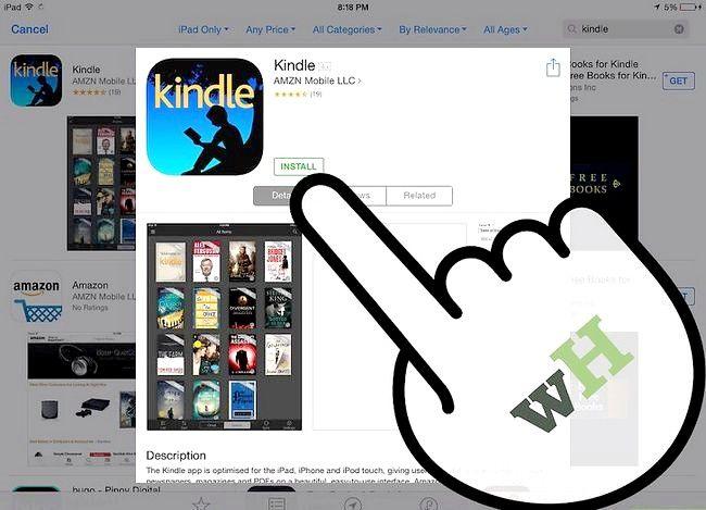 Prent getiteld Plaas `n e-boek op `n iPad Stap 15