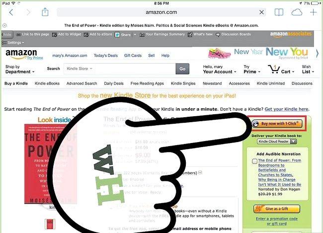 Prent getiteld Plaas `n e-boek op `n iPad Stap 22