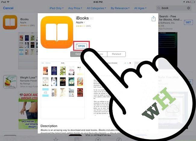 Prent getiteld Plaas `n e-boek op `n iPad Stap 3