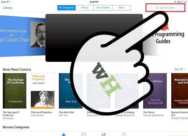 Prent getiteld Plaas `n e-boek op `n iPad Stap 4