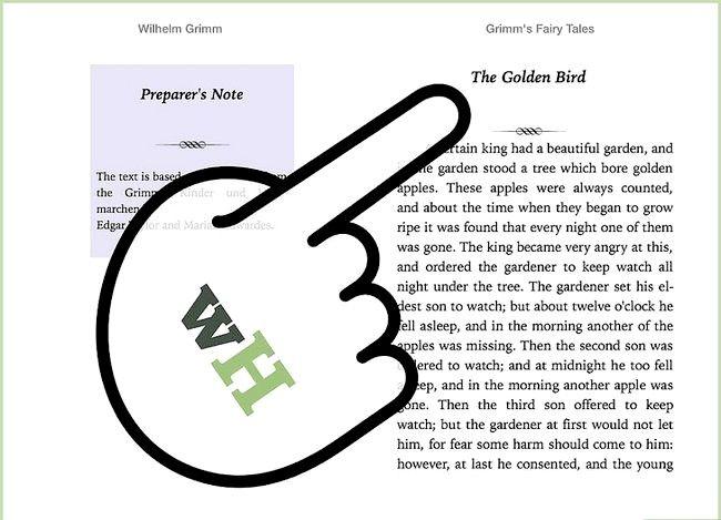 Prent getiteld Plaas `n e-boek op `n iPad Stap 7