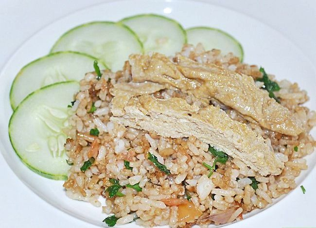 Prent getiteld Maak Thai Fried Rice Stap 7