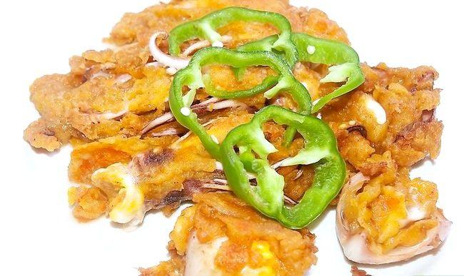 Prent getiteld Maak Crispy Fried Squid Rings Intro
