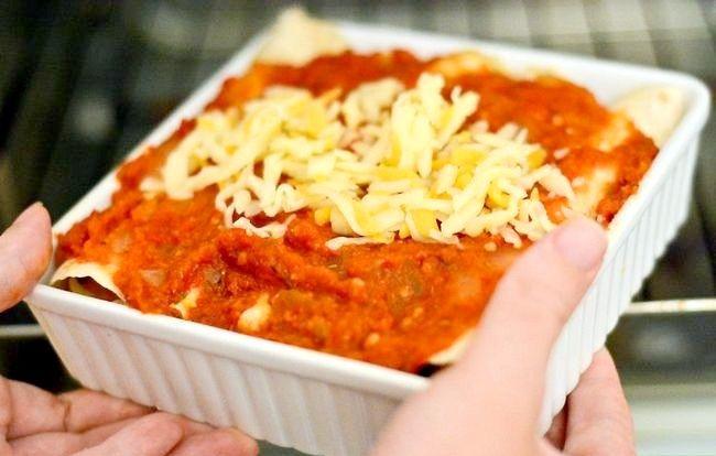 Prent getiteld Maak Meksikaanse Enchiladas Stap 9