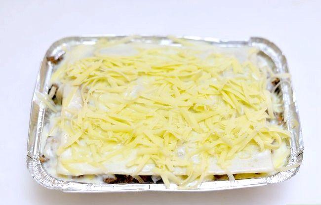 Prent getiteld Maak Lasagne Met Vleis Stap 15