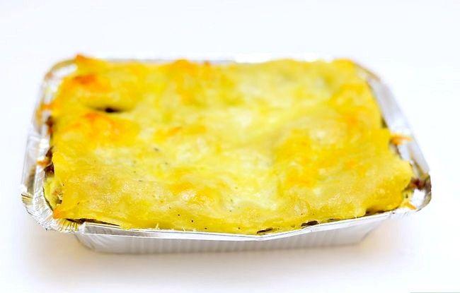 Prent getiteld Maak Lasagne Met Vleis Stap 17