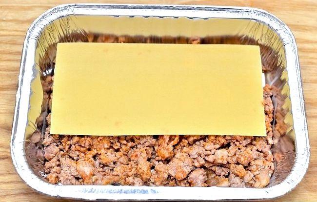 Prent getiteld Maak Lasagne Met Vleis Stap 3