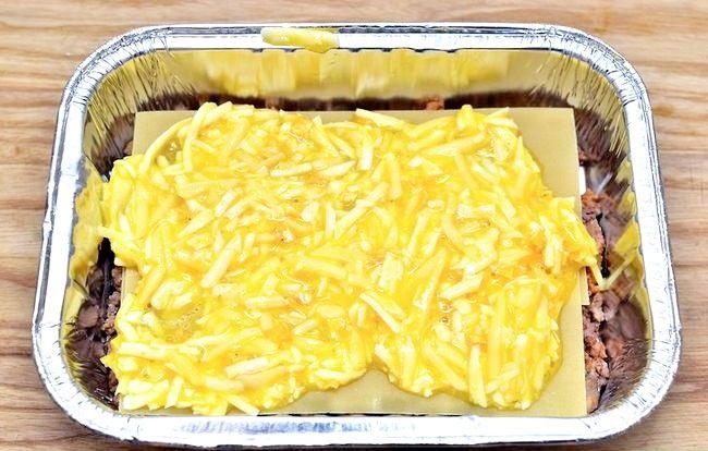 Prent getiteld Maak Lasagne Met Vleis Stap 4