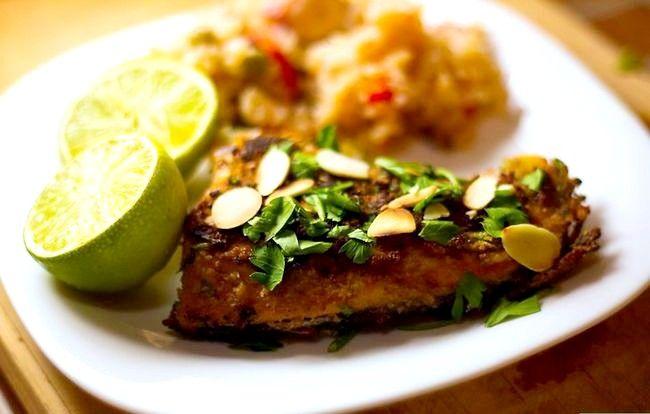 Prent getiteld Maak Almond Crusted Salmon Intro