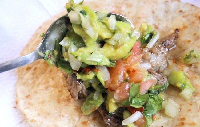 Prent getiteld Bereide Geroosterde Tacos Stap 18