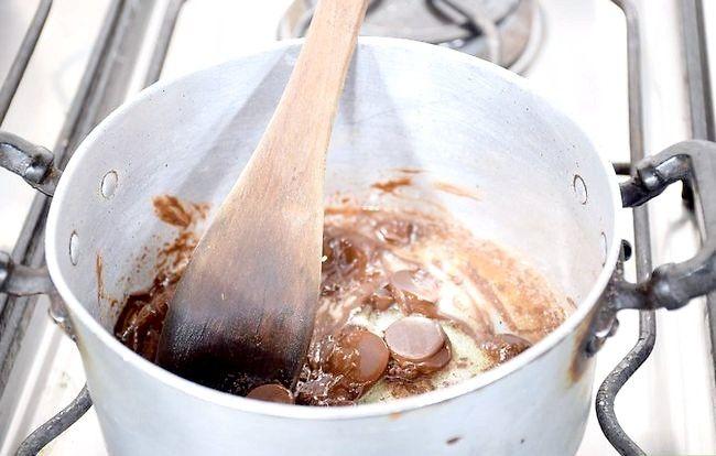 Prent getiteld Maak `n Belgiese Sjokolade Laag Cake Stap 05