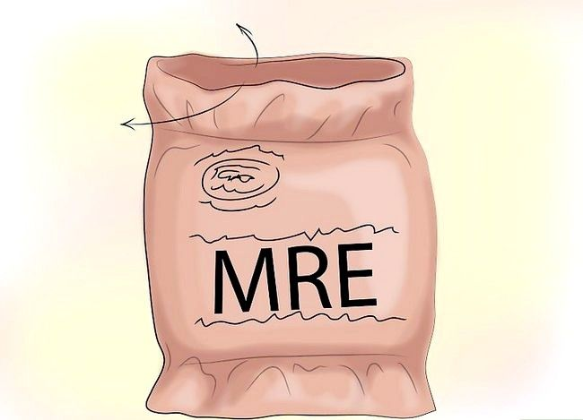 Prent getiteld `n MRE voorberei (Etes gereed om te eet) Stap 1
