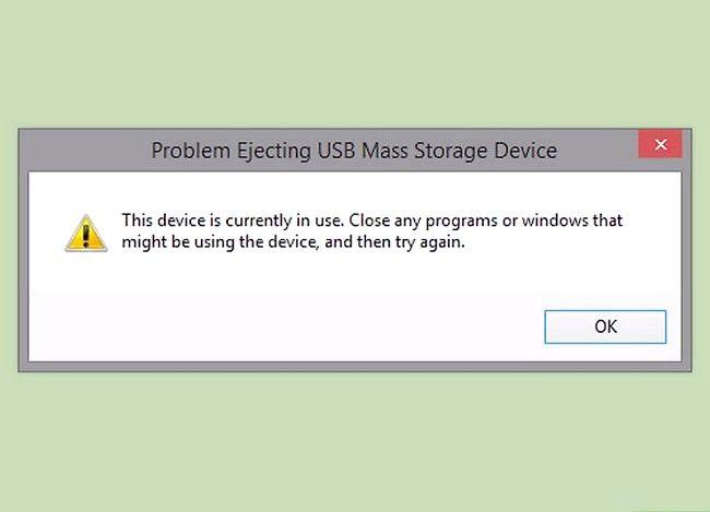 Prent getiteld Verhoed dat `n USB-flitsstasie die lêers en dopgehou in die stap 4 versteur