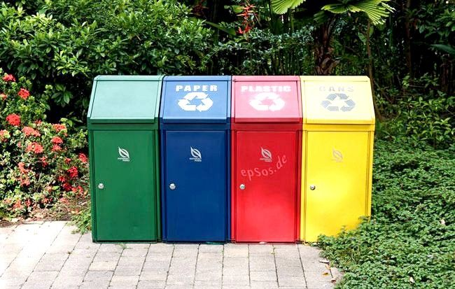 Prent getiteld Trash_Recycling_with_Disposal_Containers