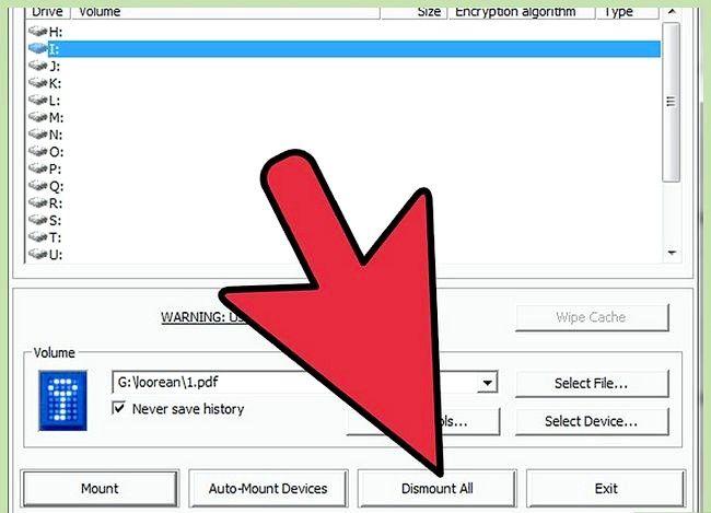 Prent getiteld Beskerm privaat data op USB Flash Drive Gebruik TrueCrypt Stap 17
