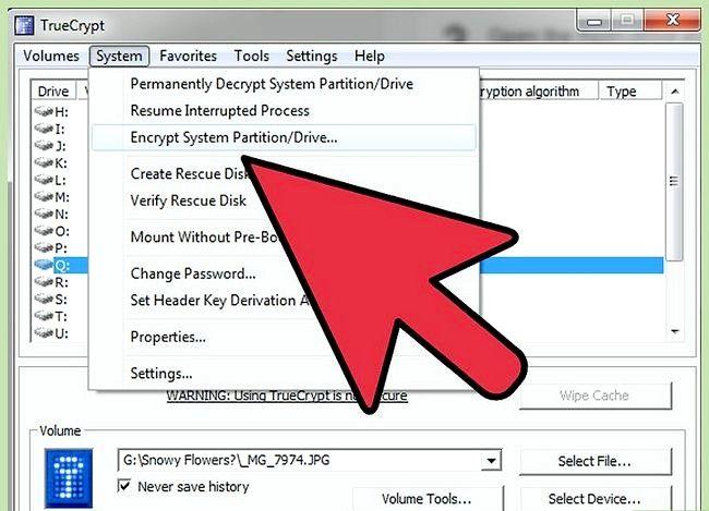 Prent getiteld Beskerm privaat data op USB Flash Drive Gebruik TrueCrypt Stap 5