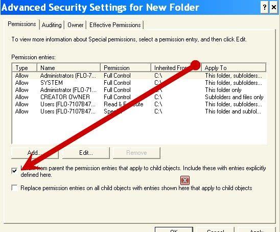 Beeld met die titel Beskerm dopgehou en lêers met Windows XP Professional Edition Stap 5