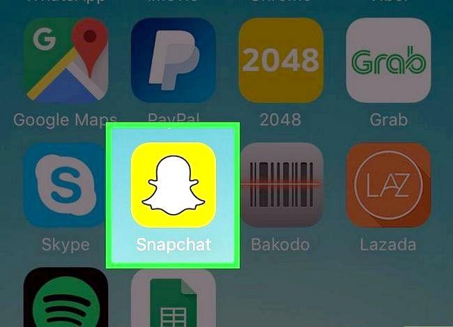Prent Titel Post na Snapchat Stories Stap 1