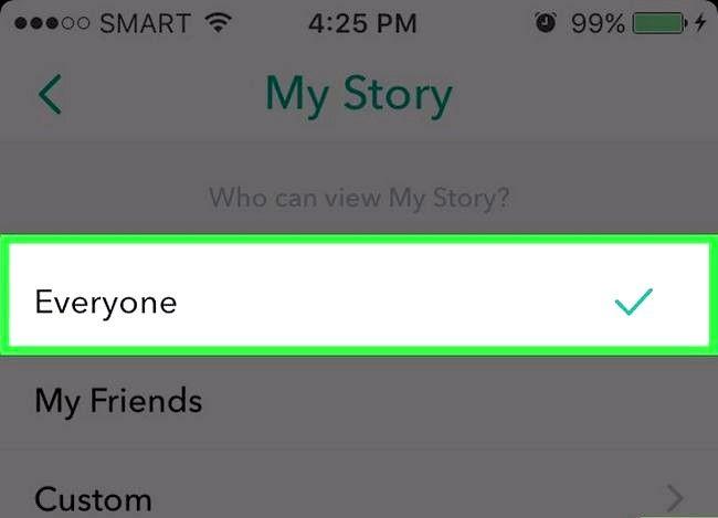 Prent getiteld Pos na Snapchat Stories Stap 14