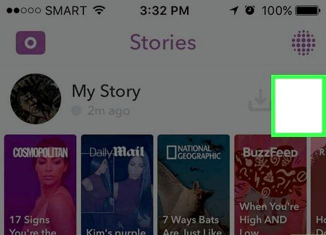 Prent Titel Post na Snapchat Stories Stap 9