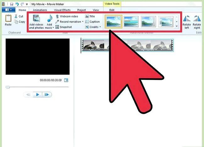 Beeld getiteld Publiseer jou video na Facebook Gebruik Windows Movie Maker Stap 1