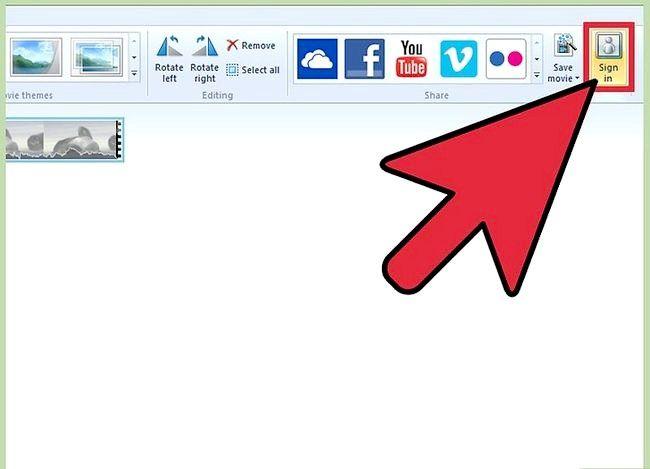 Beeld getiteld Publiseer jou video na Facebook Gebruik Windows Movie Maker Stap 2