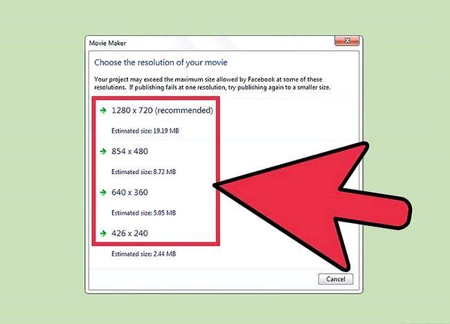 Prent getiteld Publiseer jou video na Facebook Gebruik Windows Movie Maker Stap 4