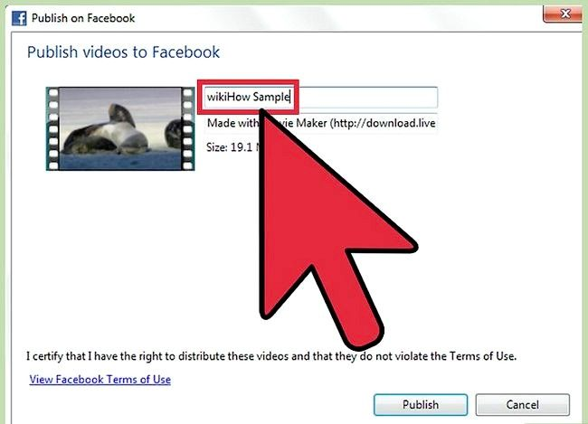 Prent getiteld Publiseer jou video na Facebook Gebruik Windows Movie Maker Stap 5