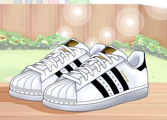 Beeld getiteld Hou White Adidas Superstar Shoes Skoon Stap 10