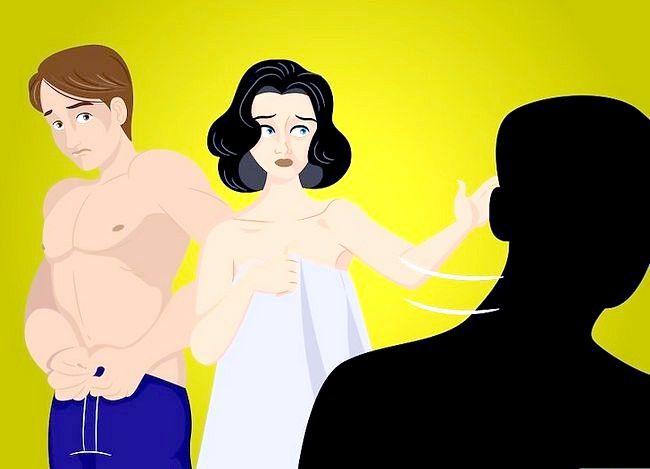 Prent getiteld Reageer as jy jou vriendin soek Naak in bed met nog `n ou Stap 2