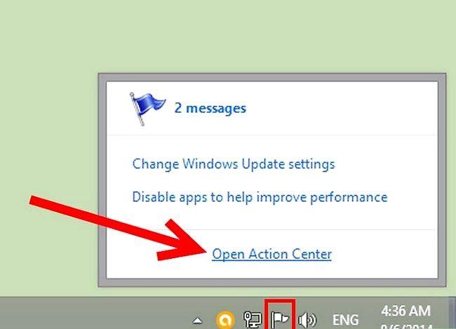 Prent getiteld Geskeduleerde instandhouding uitvoer in Windows 8 Stap 1