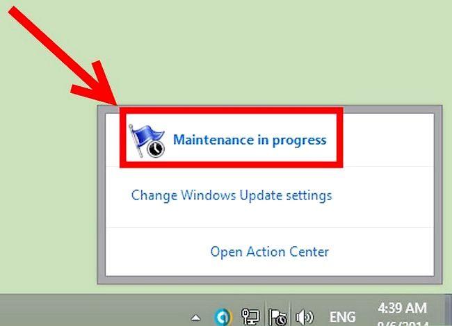 Prent getiteld Geskeduleerde instandhouding uitvoer in Windows 8 Stap 5