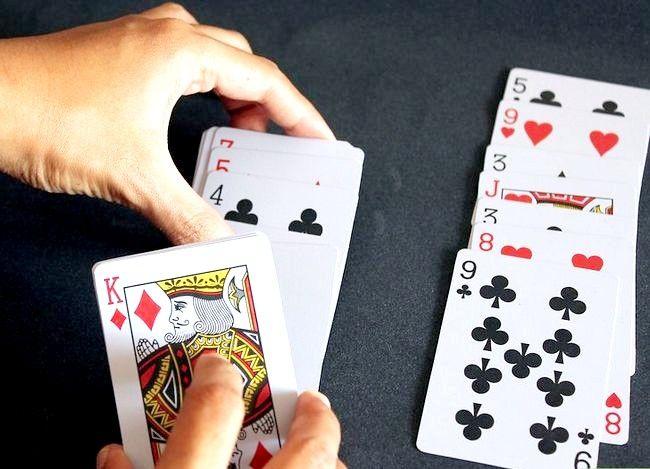 Prent getiteld Voer `n kaart truuk uit deur gebruik te maak van Wiskunde Stap 3
