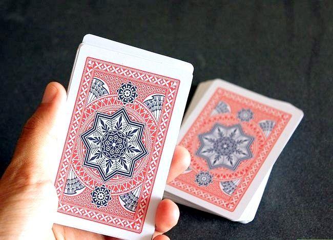 Prent getiteld Doen `n kaart truuk met Math Stap 6