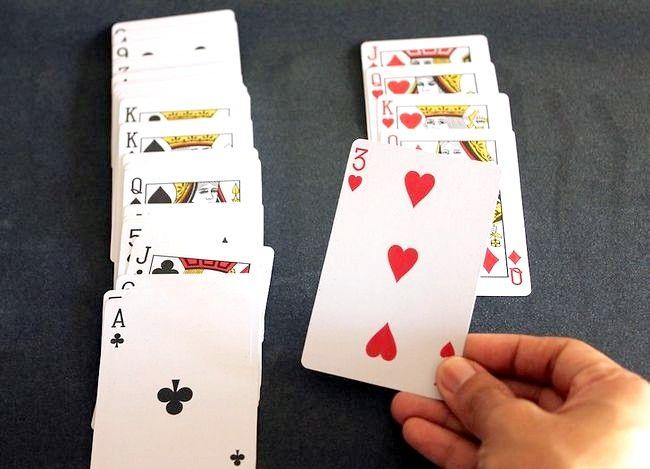Prent getiteld Voer `n kaart truuk uit deur gebruik te maak van Wiskunde Stap 9