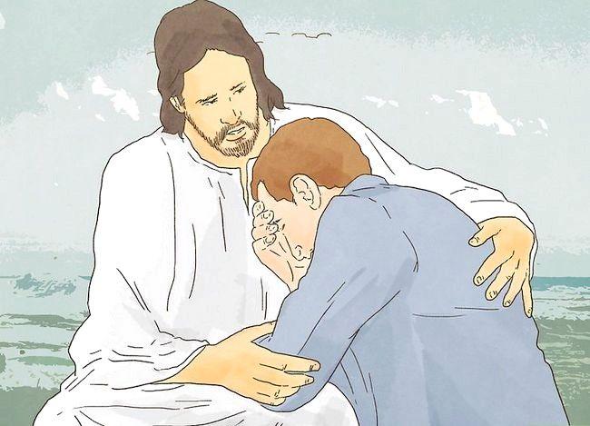 Prent getiteld Geluk ontvang deur Christendom Stap 8
