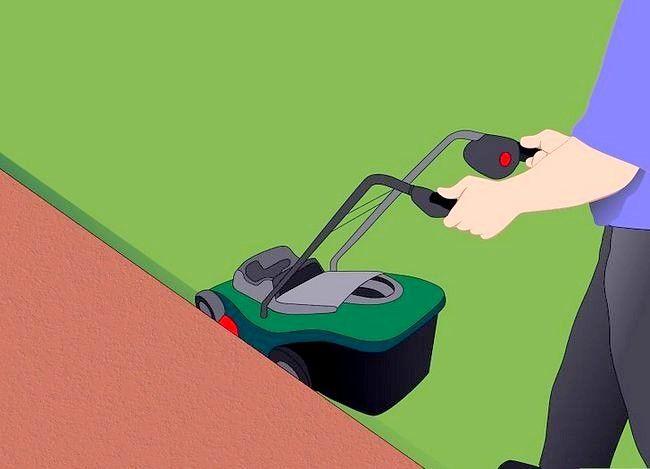Hoe om die rande van die grasperk te sny sonder `n randjie