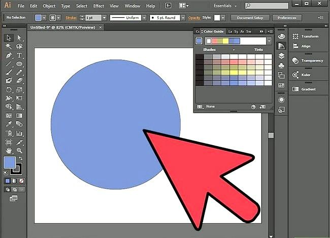 Prent getiteld Sny `n gat in `n objek in Adobe Illustrator Stap 4