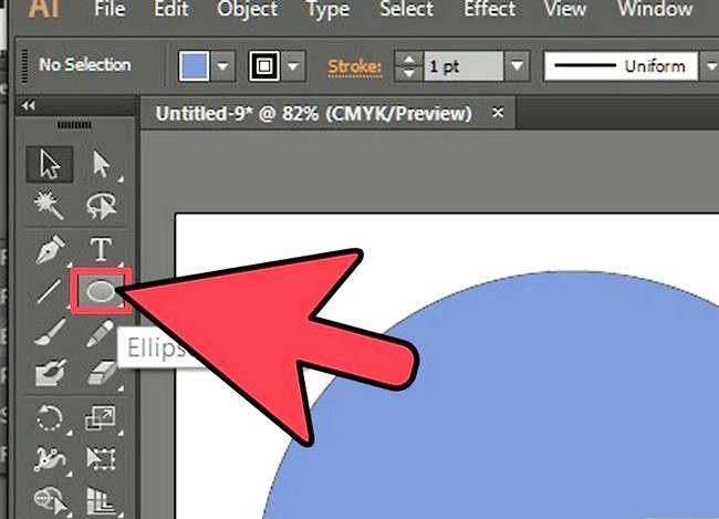 Prent getiteld Sny `n gat in `n objek in Adobe Illustrator Stap 5