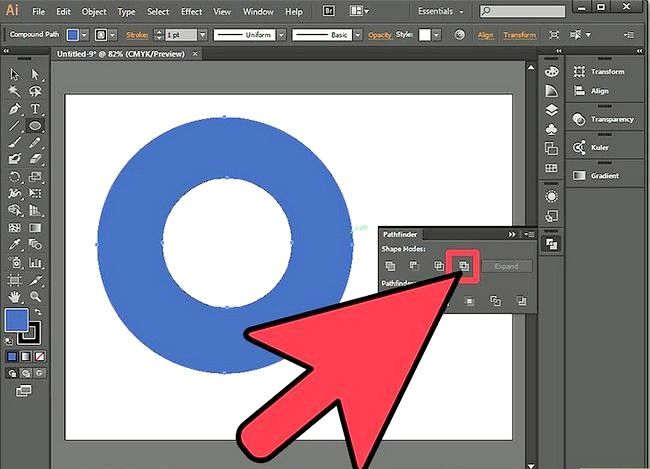 Prent getiteld Sny `n gat in `n objek in Adobe Illustrator Stap 9