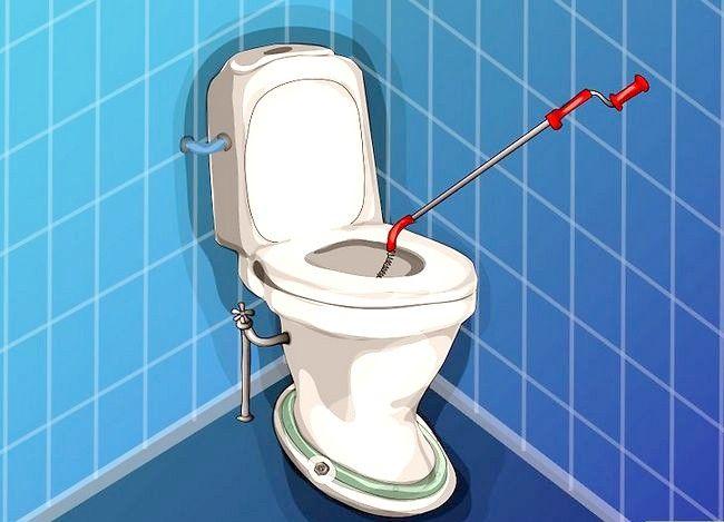 Prent getiteld Haal `n item wat na toilet Stap 2 gespoel is