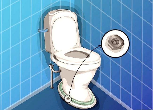 Prent getiteld Haal `n item wat na toilet Stap 3 gespoel is