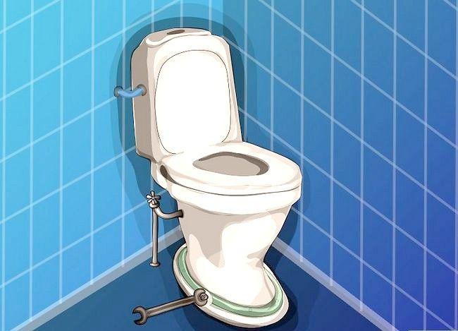 Prent getiteld Haal `n item wat na toilet Stap 6 afgespoel is