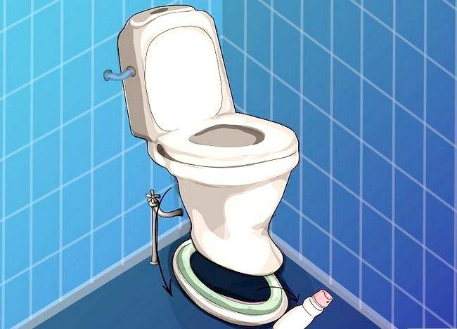 Prent getiteld Haal `n item wat na toilet Stap 10 gespoel is
