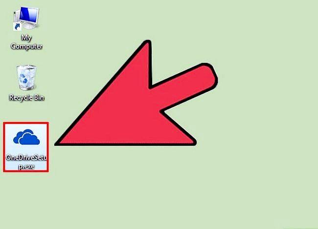 Prent getiteld Haal lêers op u rekenaar met Openedrive Stap 2