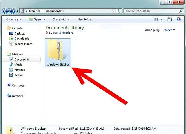 Prent getiteld Kry die Windows-zijbalk terug op Windows 7 Stap 2